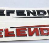 Emblem Black Mobil Defender Letters.250x25