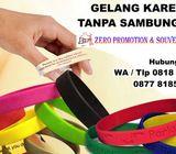 Jual Gelang Karet Promosi / rubber wrist band Gelang tanpa sambungan