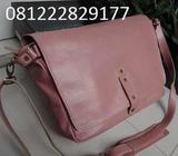 Warna Soft pink/salem casual Tas kulit sapi OT75DP2 wanita - Bandung Kota - Fashion Wanita