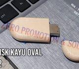 USB Kayu Promosi Bentuk Oval - FDWD02