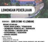 Lowongan Pekerjaan Guru SMK - Bandung Kota - Lowongan