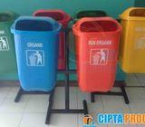 tong sampah dan tempat sampah fiber 50 liter