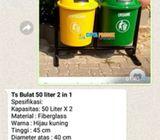 Tempat sampah organik dan an organik