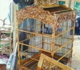 Sangkar Burung, kayu jati gread b open, motif ukir naga, free ongkir - Bandung Kota - Hewan Pelihara