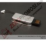 Souvenir USB Slim Metal Flashdisk Simple Promosi FDSL24 4gb