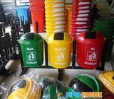 Pabrik tong sampah gandeng 50 liter bahan fiberglass