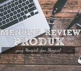 Jasa Review Produk/ Jasa di Blog dan Video