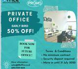 DISKON 50% RUANG KANTOR Private Office  Kasablanka Tebet Area