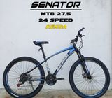 SEPEDA GUNUNG MTB 27.5 SENATOR 24 SPEED - Grey Red