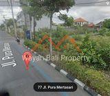 Tanah Pinggir Jalan Pura Mertasari Sunset Road Kuta