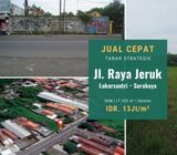 Tanah Jalan Raya Jeruk, Lakarsantri, Surabaya | Premium Location.