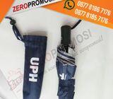 Payung lipat 3 + rangka biasa + gagang silver plastik + sarung kain
