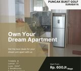 Apartemen Puncak Bukit Golf  Surabaya   2 BR, Pool View.