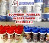 Tumbler insert paper custom untuk souvenir, ulang tahun dan promosi Termurah