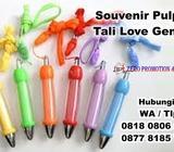 Souvenir Pulpen Tali Love Gendut - Insert Sticker Pen