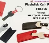 Jual Flashdisk Kunci bahan metal dengan Sarung Kulit FDLT26