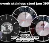 Jual Souvenir stainless steel jam dinding Promosi kode 395AL