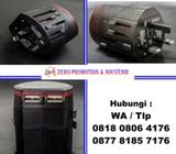 Jual Universal Travel Adaptor Promosi UAR04 dengan Pouch